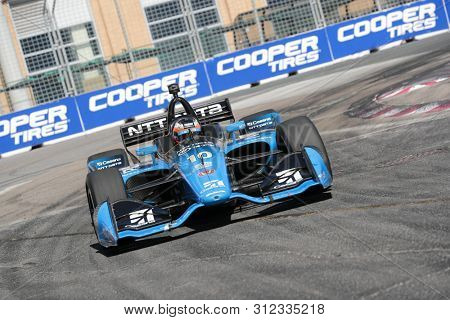 July 14, 2019 - Toronto, Ontario, CAN: FELIX ROSENQVIST (10) of Sweden races through the turns during the  race for the Honda Indy Toronto at Streets of Toronto in Toronto, Ontario.