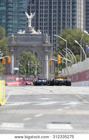 July 14, 2019 - Toronto, Ontario, CAN: ZACH VEACH (26) of the United Stated races through the turns during the  race for the Honda Indy Toronto at Streets of Toronto in Toronto, Ontario.