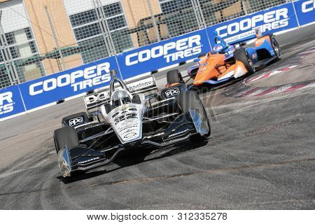 July 14, 2019 - Toronto, Ontario, CAN: SIMON PAGENAUD (22) of France races through the turns during the  race for the Honda Indy Toronto at Streets of Toronto in Toronto, Ontario.