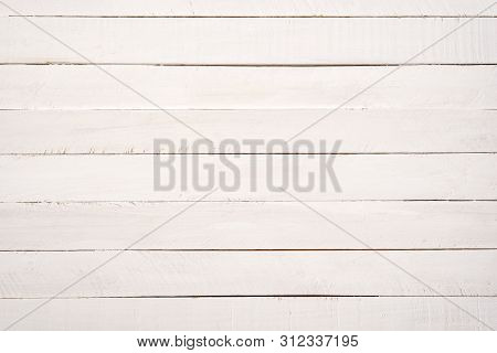 Light Gray Horizontal Wooden Planks. Abstract Background.
