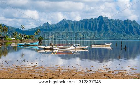 A Perfectly Still Day On Kaneohe Bay, Oahu, Hawaii