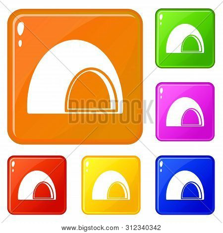 Souffle Icons Set Collection Vector 6 Color Isolated On White Background
