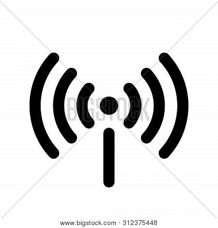 Wifi Icon Isolated On White Background. Free Wifi Icon. Vector Wlan Access, Wireless Wifi Hotspot Si