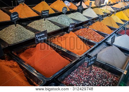 Spices Variety In A Store In Rotterdam, Netherlands