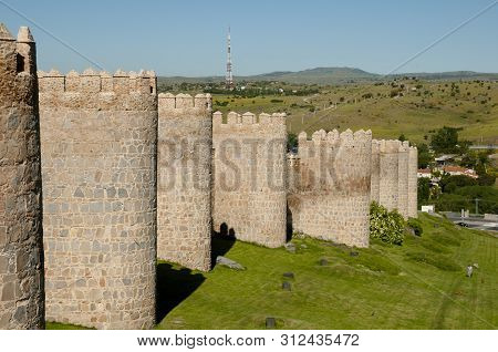 The Fortified Wall Of Avila - Spain