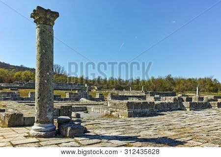 Ruins Of The Capital City Of The First Bulgarian Empire Medieval Stronghold Great Preslav (veliki Pr