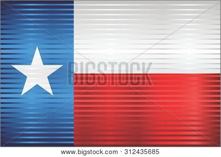 Shiny Grunge Flag Of The Texas - Illustration,  Three Dimensional Flag Of Texas