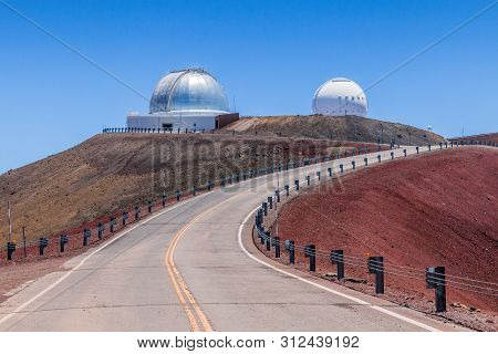 Mauna Kea Observatory, Big Island Of Hawaii, United States.