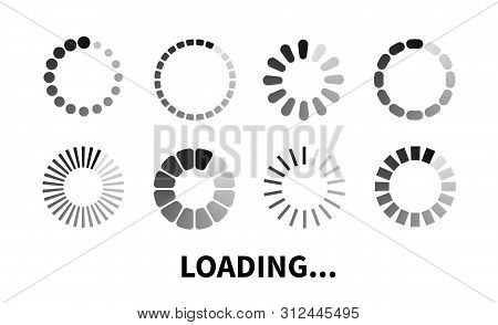 Loading Icon. Progress Bar For Upload Download Round Process. Loading Icon, Element For Website And