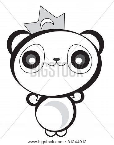 Cute Happy Panda Bear