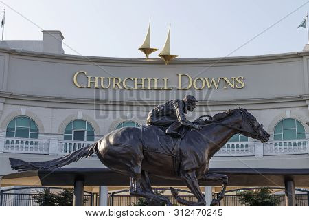 Louisville - Circa July 2019: Churchill Downs, Home To The Kentucky Derby. The Kentucky Derby Is One