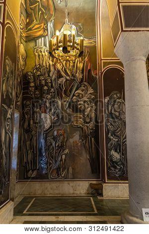 Veliko Tarnovo, Bulgaria - 8 May, 2019: Inside Interior View Of Patriarch Eastern Orthodox Church In