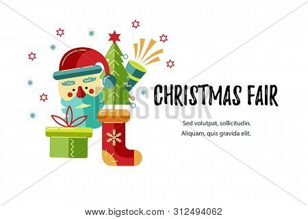 Merry Christmas Happy Vector Photo Free Trial Bigstock