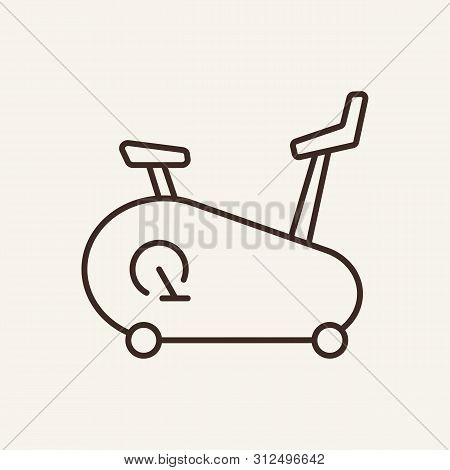 Exercise Bike Line Icon. Gym, Cycling, Fitness. Sport Concept. Vector Illustration Can Be Used For T