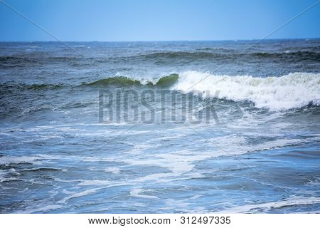 An image of a stormy ocean scenery background