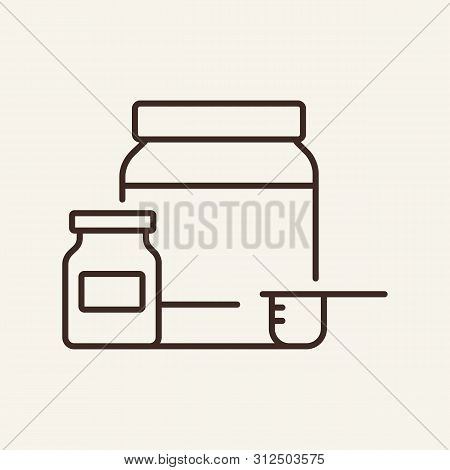 Sports Supplements Line Icon. Energy, Power, Gym. Sport Concept. Vector Illustration Can Be Used For