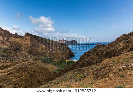 San Cristobal Island With The Pacific Ocean In The Background - Galapagos Archipelago
