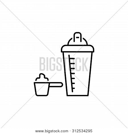 Whey Outline Icon. Elements Of Diet And Nutrition Illustration Icon. Signs And Symbol Collection Ico