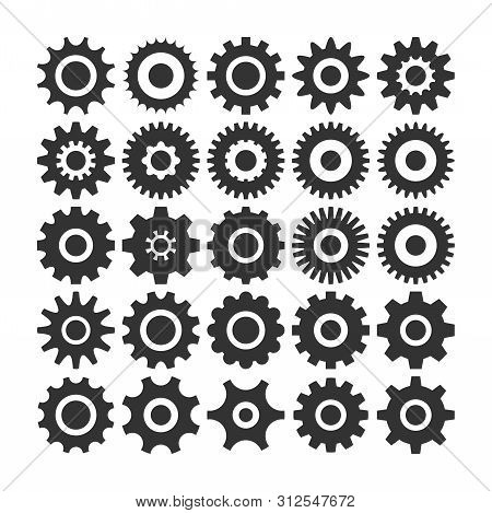 Gear Icon Vector Set, Machine Gear Icon Collection, Gear Icon Eps10, Gear Icon Vector Flat, Gear Ico