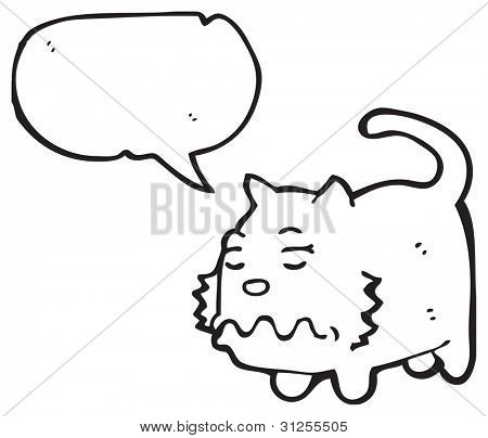 nauseous cat cartoon
