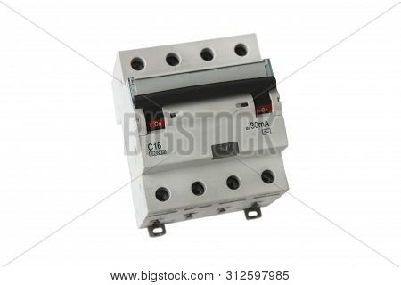 Three-pole differential circuit breaker of electrical line poster