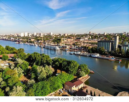 Aerial View Of City Of Rostov-on-don From The Don River