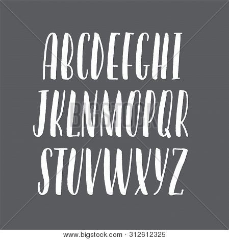 Hand-drawn Alphabet, Modern Lettering, Capital Calligraphic Letters, Universal Font For Banners And