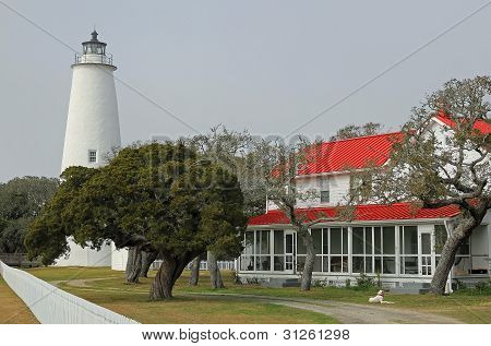 Lighthouse On Ocracoke Island