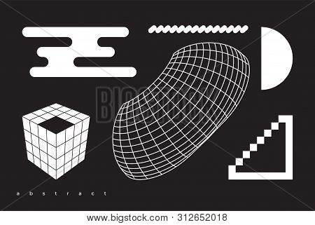 Vector Geometric Shapes Collection For Business Design Concepts Animation Web Interfaces