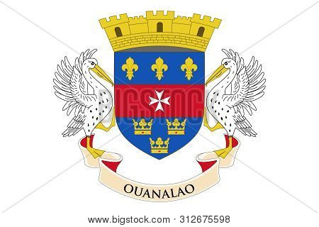 Flag Of Saint Barthelemy. Vector Illustration. World Flag