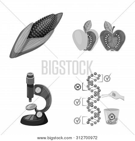 Vector Design Of Transgenic And Organic Symbol. Collection Of Transgenic And Synthetic Stock Vector