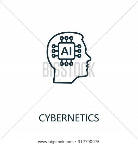 Cybernetics Thin Line Icon. Creative Simple Design From Artificial Intelligence Icons Collection. Ou