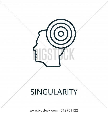 Singularity Thin Line Icon. Creative Simple Design From Artificial Intelligence Icons Collection. Ou
