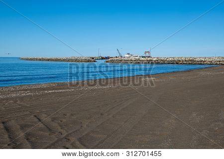 The Bering Sea On The Coastline Of Nome Alaska,
