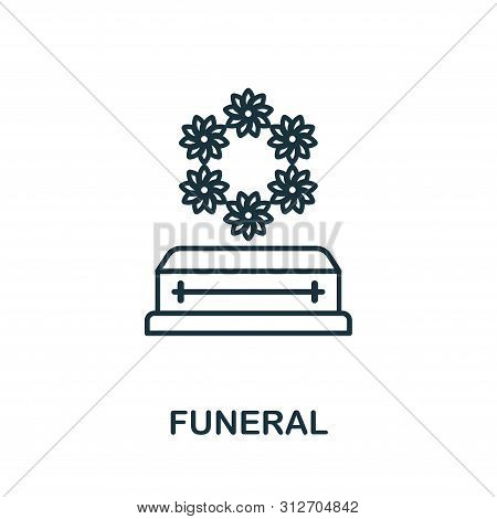 Funeral Outline Icon. Thin Line Style Icons From Insurance Icons Collection. Web Design, Apps, Softw