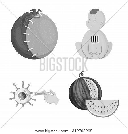 Vector Illustration Of Transgenic And Organic Symbol. Set Of Transgenic And Synthetic Stock Vector I