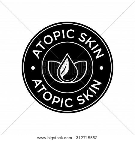 Atopic Icon. Label With Skin Type Indicator For Personal Care Products.