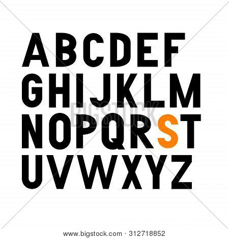 Vector Bold Condensed Grotesque Font. Uppercase Letters Only