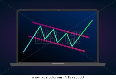 Bullish Rectangle - Continuation Price Chart Pattern Figure Technical Analysis. Strong Uptrend Betwe