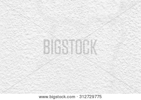 White Clean Cement Wall Paint Texture Background , Closeup Rough Texture White Paint Concrete Wall A