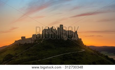 The Ruins Of The Spissky Castle (spissky Hrad), In Slovakia, One Of The Largest Castles In Europe