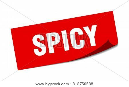 Spicy Sticker. Spicy Square Isolated Sign. Spicy