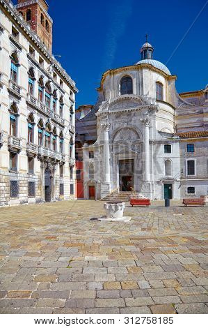 Church San Geremia And Palazzo Labia In Venice, Italy