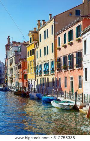 Fondamenta Garzotti On Rio Marin In Cannaregio Area, Venice, Italy