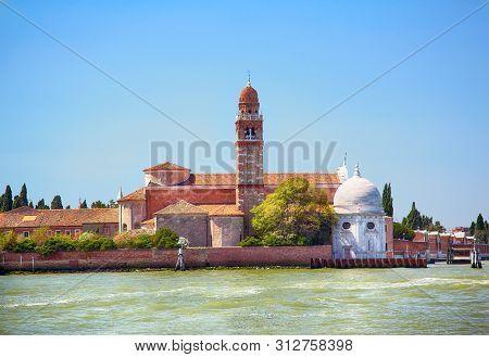 Island San Michele In The Venetian Lagoon, Northern Italy