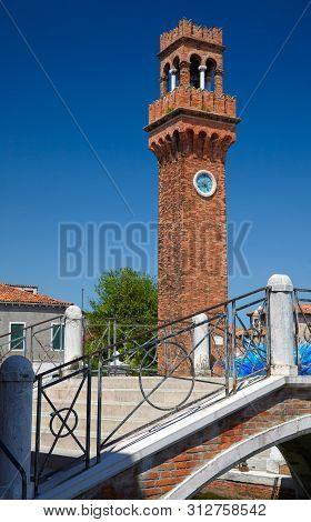Clock Tower, Campo Santo Stefano On The Island  Murano, Italy