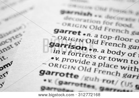 Word Or Phrase Garrison In A Dictionary