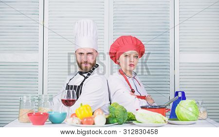 Reasons why couples cooking together. Cooking with your spouse can strengthen relationships. Woman and bearded man culinary partners. Ultimate cooking challenge. Couple compete in culinary arts poster