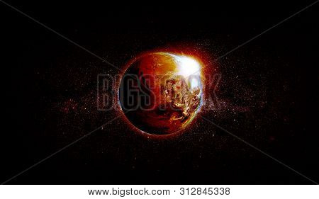 Global Warming. Elements Of This Image Furnished By Nasa.