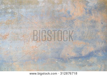 Rusty Metal Textured Background, Old Metal Iron Rust Background And Texture, Metal Corroded Texture,